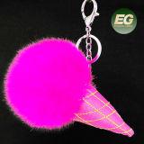Acessórios do gelado da corrente chave da esfera da pele para a bolsa FT083