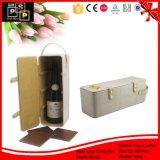 عادة علامة تجاريّة جلد ورق مقوّى يعبّئ خمر صندوق (8129)