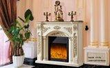 Pierre de mantel de bordure de cheminée de marbre de type traditionnel