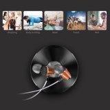 Hi-fi Huanghauli des basses profondes en bois Handfree écouteurs écouteurs pour iPhone