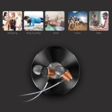 Graves profundos Hi-Fi madera Huanghauli Tapones de auricular manos libres para el iPhone