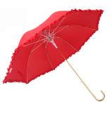 China-Lieferanten-Qualitäts-Hochzeits-Regenschirm Romatic gekrümmter Griff-Regenschirm für Hochzeit