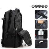 黒いコンピュータのリュックサックのラップトップのバックパック袋の学校のバックパック袋