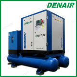 5-37 Kilowatt-Kombination verpackter Schrauben-Luftverdichter mit Becken für Erdölraffinerie