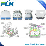 En carril DIN de plástico de fibra óptica de la caja con 6/12 Sc/UPC/APC/Adaptador de cara/a