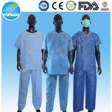 Pyjamas pacientes descartáveis de SMS, terno paciente não tecido