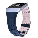 De echte Band van het Horloge van het Leer voor de Ionische Riem van het Leer Fitbit