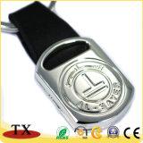 Chaîne principale de cuir promotionnel bon marché en métal avec le logo gravé