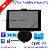 """Горячая продажа 5.0"""" IPS экран Car погрузчик морской навигации GPS с помощью GPS навигатор Wince, Bluetooth, FM-передатчик, AV-в камеру заднего вида, ручной система навигации GPS"""