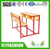 خشبيّة قابل للفصل مزدوجة [كمبو] مدرسة مكتب مع كرسي تثبيت [سف-49د]