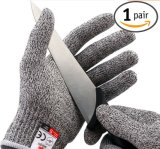 Couper les gants de travail de résistance avec la garniture de Knit de chaîne de caractères de 13G Hppe