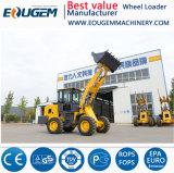 Eougem kompakte Rad-Ladevorrichtung 2 Tonnen-Miniladevorrichtung mit Sand-Spreizer