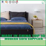 現代寝室の家具のガスによって持ち上げられる革記憶のベッド