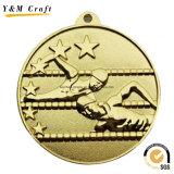 금 코팅 아연 합금에 의하여 주문을 받아서 만들어지는 금속 메달 Q09731