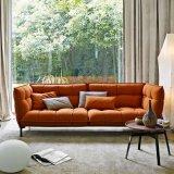 Sofá secional moderno da tela com braço