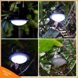 Lampada di mano ricaricabile chiara di campeggio solare portatile del LED per la tenda che fa un'escursione pesca