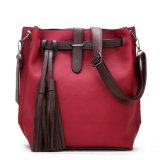 Sacchetto di Tote di cuoio su ordinazione dell'imbracatura della borsa della signora PU di modo con buona qualità
