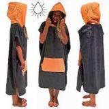 Essuie-main changeant à capuchon de poncho de vague déferlante de robe longue de Microfiber de vente chaude