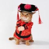 공장 직접 귀여운 애완 동물 고양이는 고양이를 위한 흑백 Strpe 선원 옷을 입는다