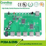 Conjunto da Placa de circuito impresso PCB com componentes eletrônicos