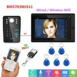 7дюйм проводные и беспроводные WiFi пароль RFID видео телефон /двери дверь система внутренней связи