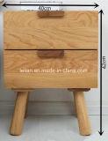 Pecho de madera del pecho del cajón del MDF del final blanco del diseño de los cajones (LL-SW001)