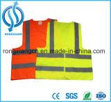 Veste leve de piscamento reflexiva da segurança do diodo emissor de luz para a segurança da estrada