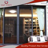 Portas interiores/exteriores de porta deslizante de vidro do dobro de alumínio do perfil de painel