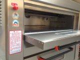 Horno de gas de la bandeja de la cubierta 6 de la máquina 2 de la panadería para la venta (fábrica verdadera)