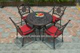Tabela de chá do alumínio de molde e mobília ajustada do jardim da cadeira