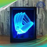 luz teledirigida de la ilusión del gradiente de la luz LED de la noche del cambio de 7 colores de la lámpara del marco de la foto 3D
