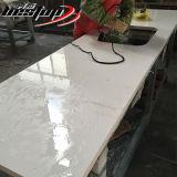 Eua popular formato L Bancada de cozinha de design em pedra de quartzo branca pura