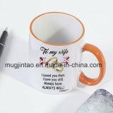 Het Kamperen van de Kop van de Koffie van Sumblimition Ceramische OpenluchtMok