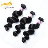 ブラジルの人間のバージンの毛のよこ糸を編む22インチの人間の毛髪
