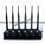 고성능, 붙박이 건전지, 이동할 수 있는 GPS 신호 Blokcer/방해기, 6bands 강력한 4G/Lojack 신호 차단제 방해기