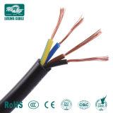60227 CEI 53 Elektrische Kabel 4X0.75mm2 van Rvv van de Draad van de Leider van het Koper de pvc Geïsoleerde= Flexibele