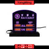 바카라 테이블 게임은 LED 전자 테이블 한계 표시 카지노 부지깽이 테이블 내기 한계에 의하여 주문을 받아서 만들어진 로고 Ym-LC02를 할당했다