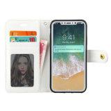 Luxuxlederner Telefon-Marmorierungkasten für iPhone 6/7/X/8plus