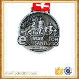 Medalla de encargo del deporte del maratón de la corrida 10k de la nadada del karate de la escuela del metal de la alta calidad
