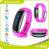 Pulsera elegante de Bluetooth del monitor de la presión arterial del ritmo cardíaco de la pantalla táctil