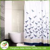 Seul long rideau clair fait sur commande en baignoire de douche pour la maison