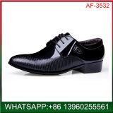 El italiano Mens Cuero negro Zapatos de Vestir formal para la Oficina de Negocios
