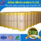 Rodillo enorme amarillo de la cinta adhesiva para la pintura decorativa