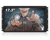 Châssis métallique de 17,3 pouces avec affichage LCD industriels panneau tactile capacitif