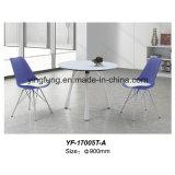 Mesa de centro de vidro moderna do escritório do estilo simples com vidro Tempered (YF-T17007)