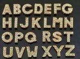 Silver et Gold curseur Rhinesonte lettre et le numéro de charme pour collier de PET