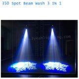 17r 350W lavar la mancha de haz de iluminación de la cabeza en movimiento