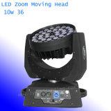 LED 단계 /Party 빛 급상승 36*10W 세척 이동하는 맨 위 빛