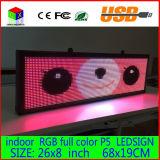 Signe programmable 26X8inch d'étalage de message de défilement du panneau polychrome d'intérieur DEL de panneau de DEL