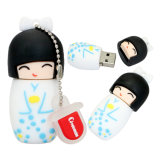 Cartoon Modelo boneca japonesa pen drives USB 2.0